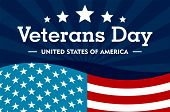 Veterans Day Concept Background. Flat Illustration Of Veterans Day Concept Background For Web Design poster