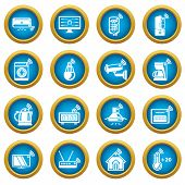 Smart Home Icons Set. Simple Illustration Of 16 Smart Home Icons For Web poster
