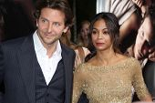 LOS ANGELES - SEP 4:  Bradley Cooper, Zoe Saldana arrives at