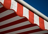 foto of awning  - A Symbol of American colors on american flag - JPG