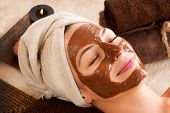 Spa Mask.Facial Chocolate Spa Mask. Chocolate Treatments. Beauty Spa Salon