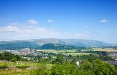 stock photo of william wallace  - the Wallace Monument as seen from Stirling Castle hill - JPG