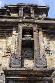 stock photo of arjuna  - Facade of Arjuna temple on Dieng plateau Java - JPG