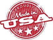 Vintage Made in USA marca etiqueta