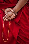 image of prayer beads  - Tibetan Buddhism  - JPG