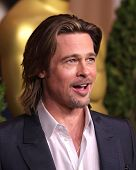 LOS ANGELES - FEB 6:  BRAD PITT arrives to the 2012 Academy Awards Nominee Luncheon  on Feb 6, 2012