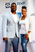 NEW YORK-MAY 30: New York Giants player Justin Tuck and actress Vivica A. Fox attend the 5th annual