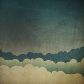 image of scratch  - Vintage grunge sky background - JPG
