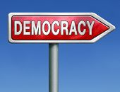 foto of democracy  - democracy and political freedom power to the people after a new revolution for free elections - JPG