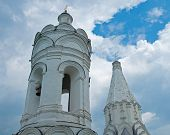 stock photo of ascension  - Bell tower and the church of the Ascension Kolomenskoye - JPG