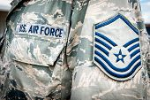 foto of camouflage  - Detail of United states air force soldier - JPG