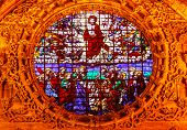 Christ Ascension Stained Glass Cathedral Of Saint Mary Of The See Seville Spain