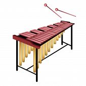 A Musical Marimba Isolated On White Background