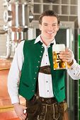 stock photo of stein  - Man in Bavarian Tracht - JPG