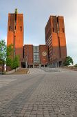 pic of nobel peace prize  - Exterior of the Oslo City Hall in Oslo - JPG