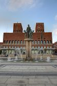 picture of nobel peace prize  - Exterior of the Oslo City Hall in Oslo - JPG