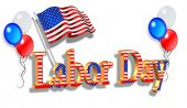 image of labor  - Illustration composition Patriotic graphics for Labor day holiday - JPG