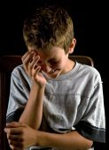 picture of sad boy  - Emotional portrait of unhappy preteen boy crying - JPG