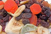 stock photo of dry fruit  - some dried fruit mix ready to snack on - JPG