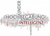 Word cloud -  Intellectual giftedness