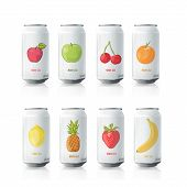 foto of fruit-juice  - Grey tin of fruit juice - JPG
