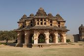stock photo of vijayanagara  - Lotus Mahal at Royal enclosure  - JPG