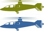 pic of attack helicopter  - helicopters vector illustration clip - JPG