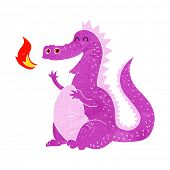 picture of fire-breathing  - cartoon fire breathing dragon - JPG