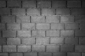 pic of mortar-joint  - The texture of the brick wall of gray cinderblock - JPG