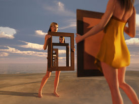 picture of cognitive  - reflection of consciousness  - JPG