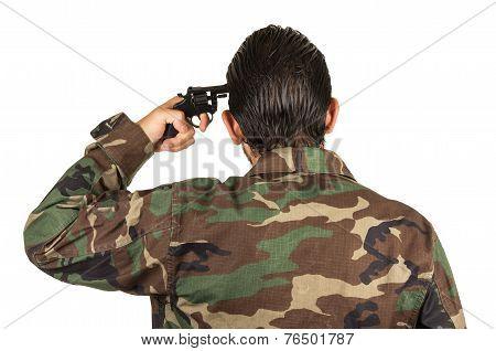 distraught military soldier veteran ptsd