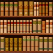 picture of book-shelf  - seamless library shelves with old books background - JPG