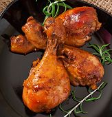 pic of marinade  - Baked chicken drumsticks in honey mustard marinade - JPG
