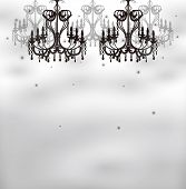 foto of chandelier  - This is an illustration of the chandelier - JPG