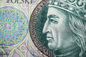 image of zloty  - Polish paper money or banknotes - JPG