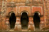 stock photo of radha  - Arches of Pancharatna Govinda Temple in Puthia - JPG