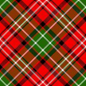 stock photo of kilt  - Textured tartan plaid - JPG