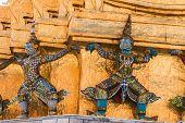 image of guardian  - Giant Guardian in Wat Phra Kaew temple bangkokthailand - JPG