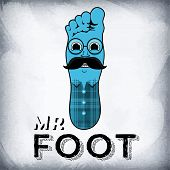 image of foot  - Mr foot is the drawn character in the form of a foot - JPG