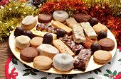 pic of christmas meal  - a tray with different turron - JPG