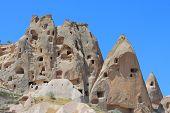 picture of chimney rock  - caves in spectalar rocks - JPG