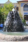 foto of rumi  - picture with interesting fountain in Konya - JPG