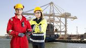 foto of industrial safety  - Two dockers - JPG