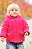 foto of dimples  - a cunning baby girl with dimple cheeks - JPG