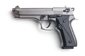stock photo of handgun  - the handgun on white background - JPG