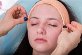 stock photo of facials  - Facial massage treatment - JPG
