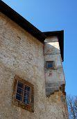 image of mural  - Otocec castle beautiful tourist destination in Slovenia - JPG