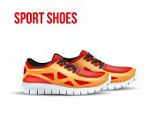 stock photo of insole  - Running colorful pair shoes - JPG