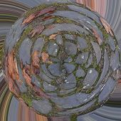 foto of trippy  - Abstract wallpaper like a circularly deformed picture - JPG