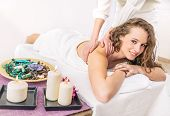 picture of therapist massage  - Spa treatment  - JPG